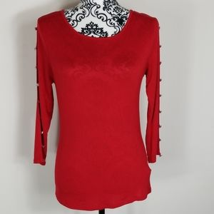 Women's Small Cable & Gauge Red Blouse